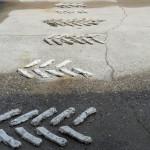 """"""" tracks en tracés"""" by Inge Hoefnagel, 350*140, 2013, NL"""