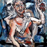 """""""Self portrait with Death as Painting partner"""" by Basil Eliades, Australia"""