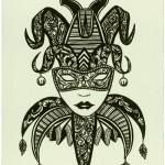 """""""Harlequin Mask"""" by Sean Martorana, U.S.A."""