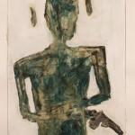 """Naked man and gun""  by Ian Bourgeot, Finland"