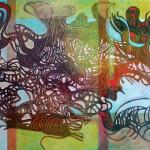 """Colonization"" by Gudmundur R Ludviksson, 160*200cm, 2014, IS"