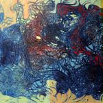 """Colonization2"" by Gudmundur R Ludviksson, 160*200cm, 2014, IS"