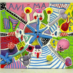 """Anima Mundi 1"" by Helena Mark, 90*90*20cm, 2015, FI"