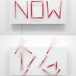 """""""NOW"""" by Alicia Eggert, 122*183*31 cm, 2012, USA"""