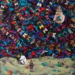 """Reincarnation Series #4"" by Yoshiyuki Koinuma, 120*120cm, 2012, NL"