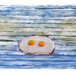 """""""Sunny side up"""" by Liesbeth Van Ginneken, 50*80cm, 2001, NL"""