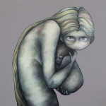 """""""Mother and child"""" by Lotte Teussink, 120*120, 2013, NL"""