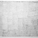 """""""That accumulation of mark making becomes very lively"""" by Daniel Poveda, 164*344cm, 2014, DE"""