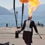 """let it burn!"" by Beate Sandor, 100*140cm, 2015, AT"